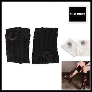 STEVE MADDEN BLACK LEG WARMERS BOOT CUFFS A2C